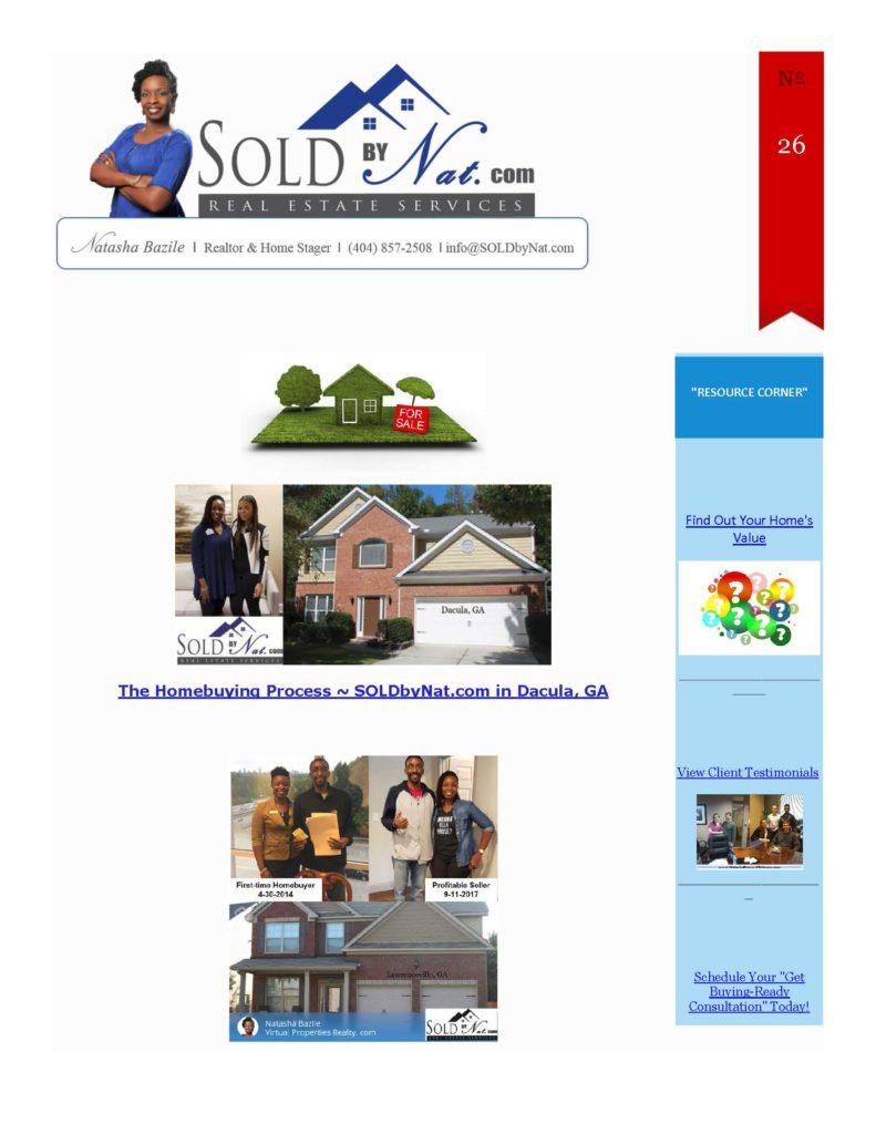 soldbynat.com - real estate update- natasha bazile